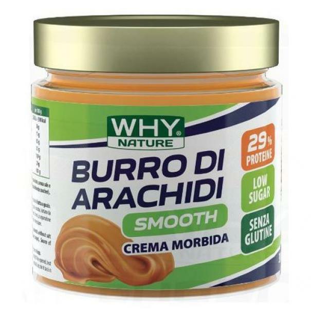 biovita group why nature - burro di arachidi smooth al cocco - crema spalmabile 100% arachidi - 350g