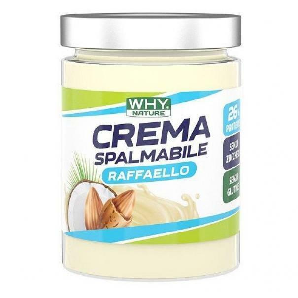 biovita group why sport - perfect cream - crema spalmabile proteica gusto raffaello- 300g