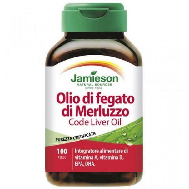 biovita group jamieson - olio di fegato di merluzzo - 100 softgels