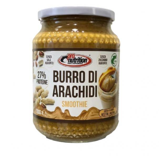 pro nutrition pronutrition - burro arachidi smoothie ricco di proteine fibre omega 3 -  700 g