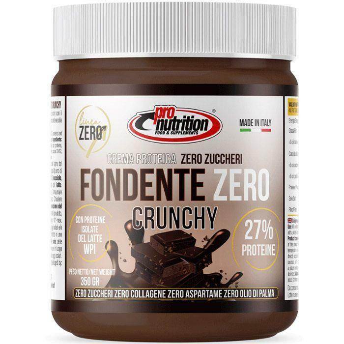 pro nutrition pro nutrition - crema spalmabile gusto fondente zero  crunchy- 350g