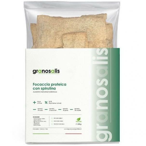 granosalis focaccia proteica con spirulina ricca di fibre - 200 g