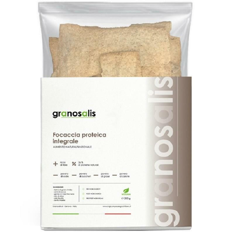 granosalis focaccia proteica integrale ricca di fibre - 200 g
