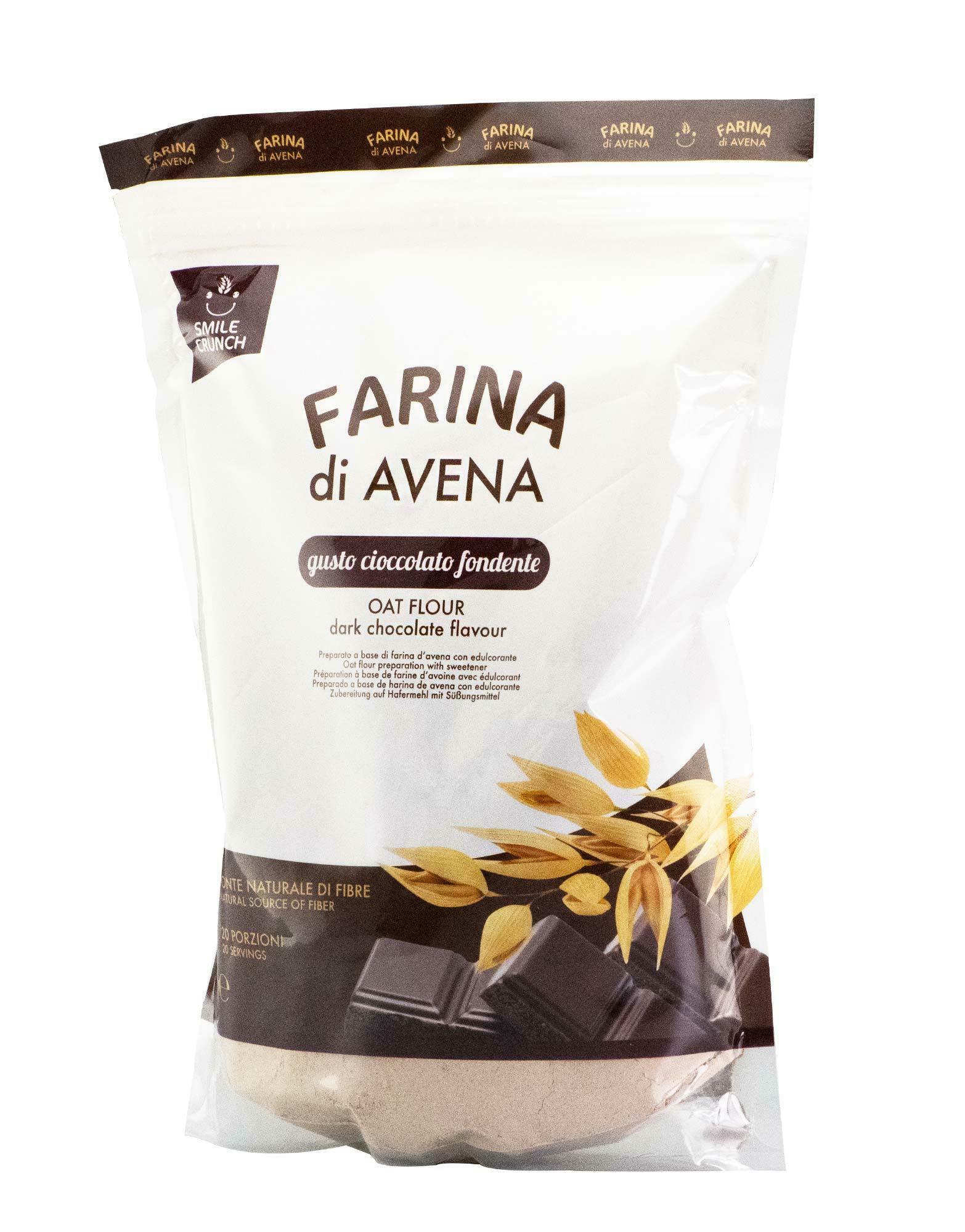 smile crunch oat flour - farina d'avena istantanea gusto cioccolatte - 1kg