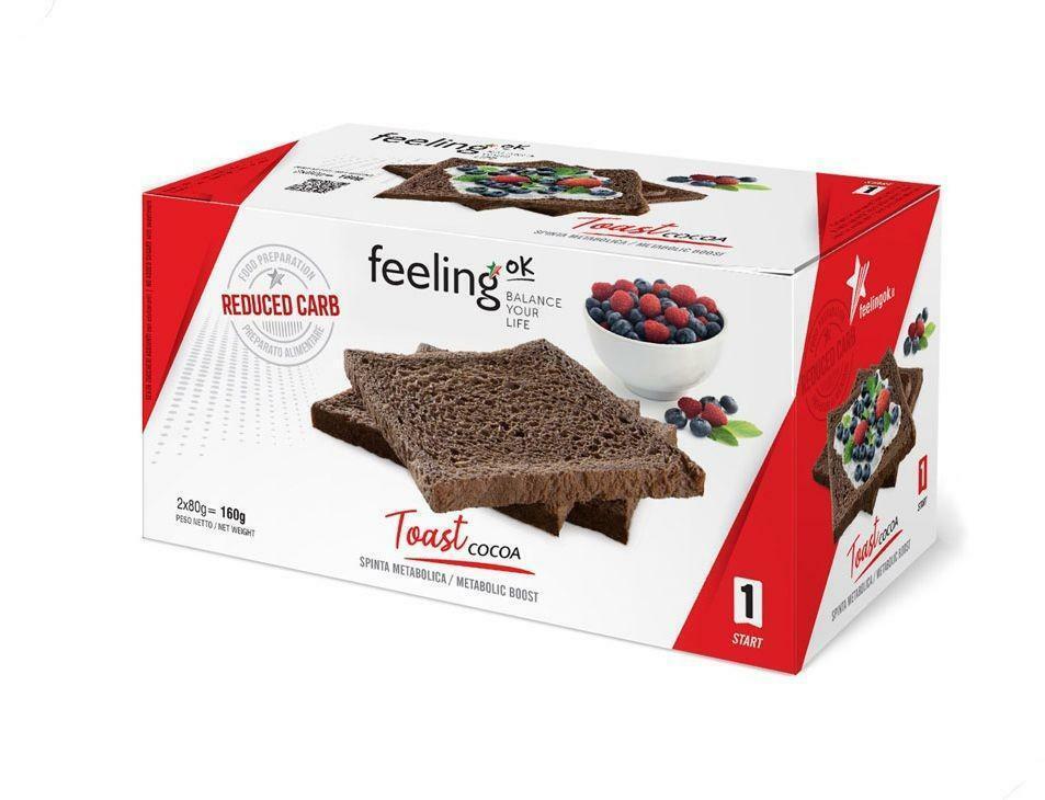 feeling ok feeling ok - toast cocoa - 4x 40gr = 160gr