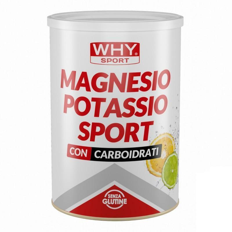 biovita group why sport - magnesio potassio sport con carboidrati senza glutine - 400g