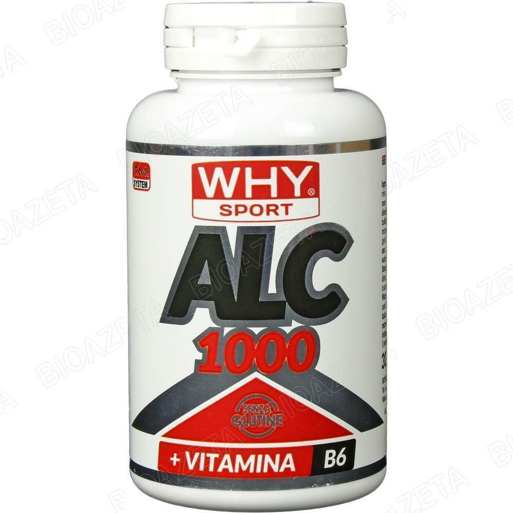 biovita group why sport - alc 1000 - integratore alimentare a base di acetil l-carnitina + b6 - 90 cpr