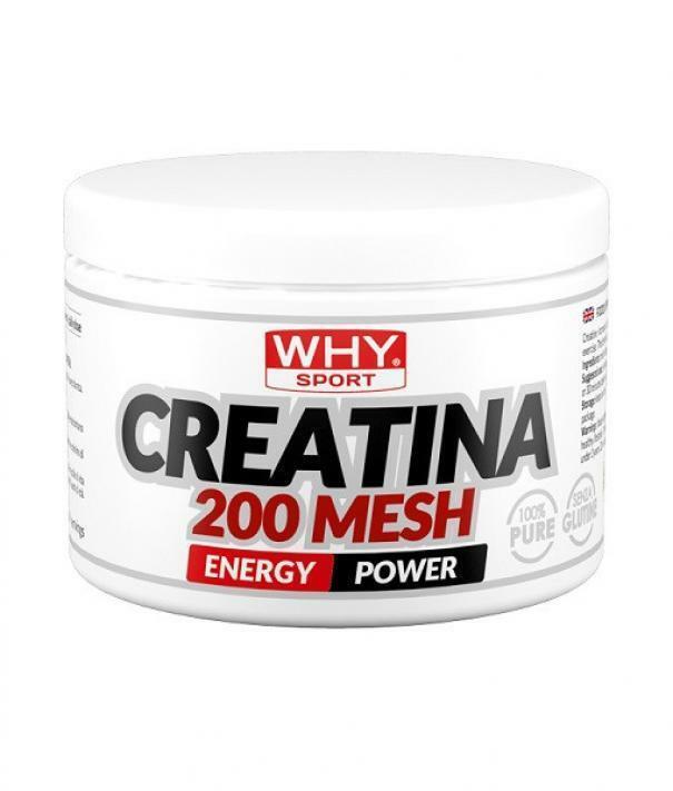 biovita group why sport - creatina 200 mesh -  integratore alimentare di creatina monoidrato - in polvere 200 gr