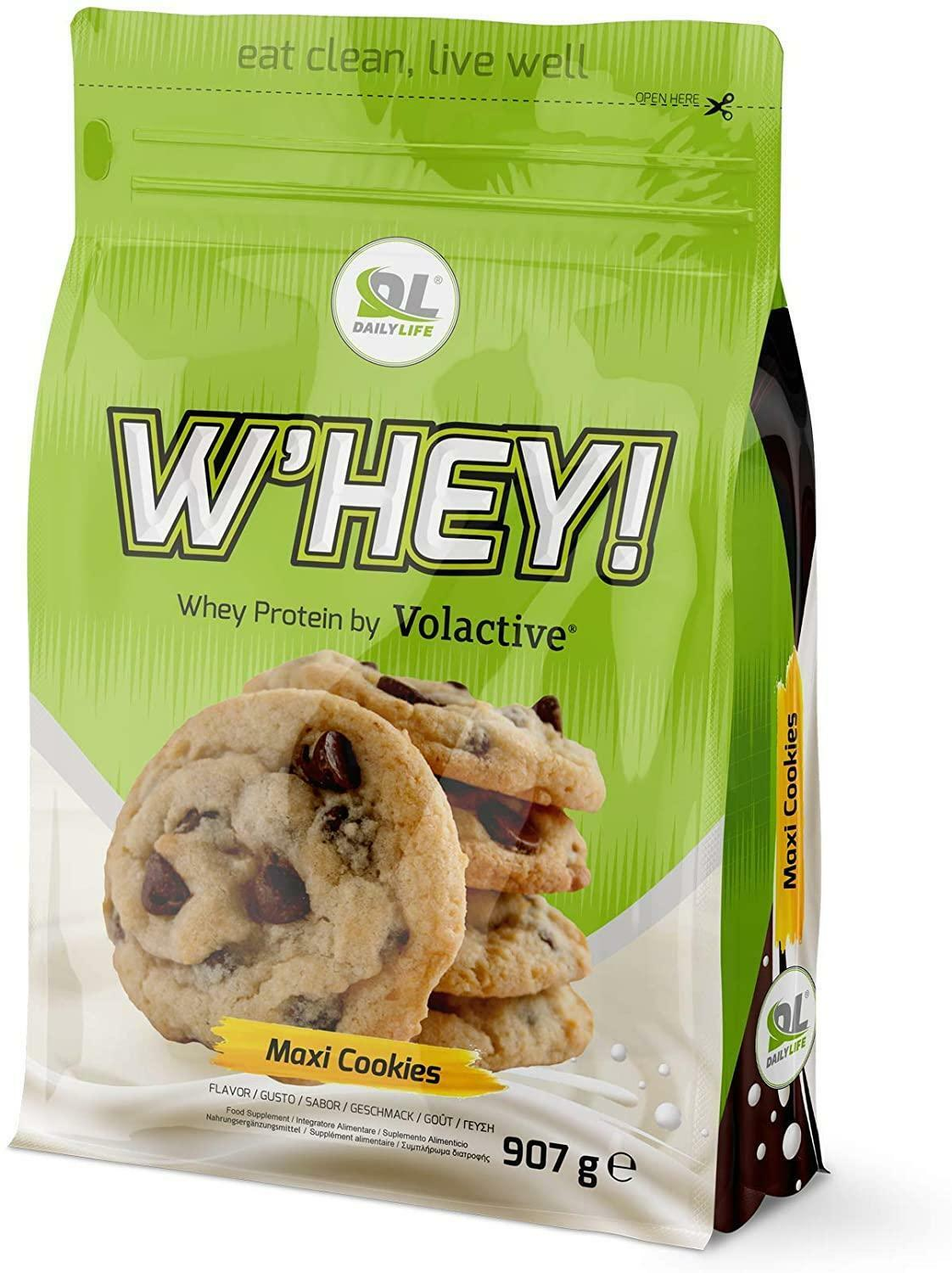 daily life w'hey! - proteine whey volactive® gusto cookies - 907g