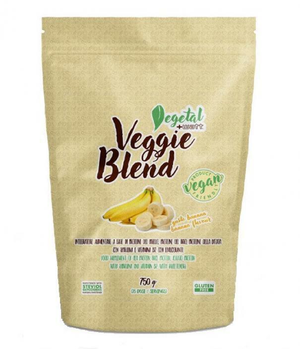 +watt nutrition +watt - veggie blend - proteine blend vegetali gusto banana - 750g