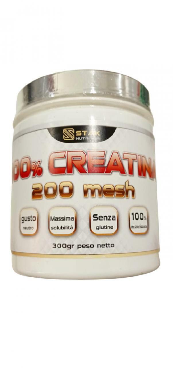 bio extreme stak nutrition - 100% creatina 200 mesh senza glutine gusto neutro - 300g