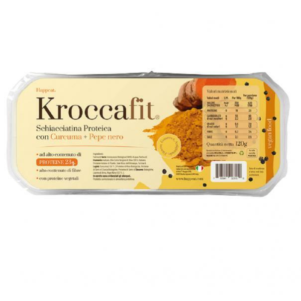 happeat kroccafit - schiacciatina proteica con curcuma pepe nero - 120g