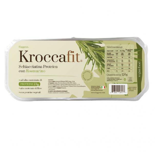 happeat kroccafit - schiacciatina proteica con rosmarino - 120g