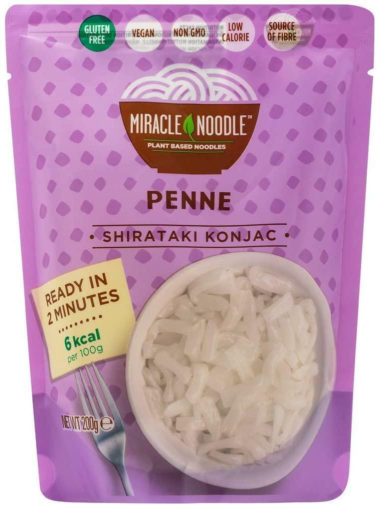 miracle noodle shirataki konjac - penne - 200g