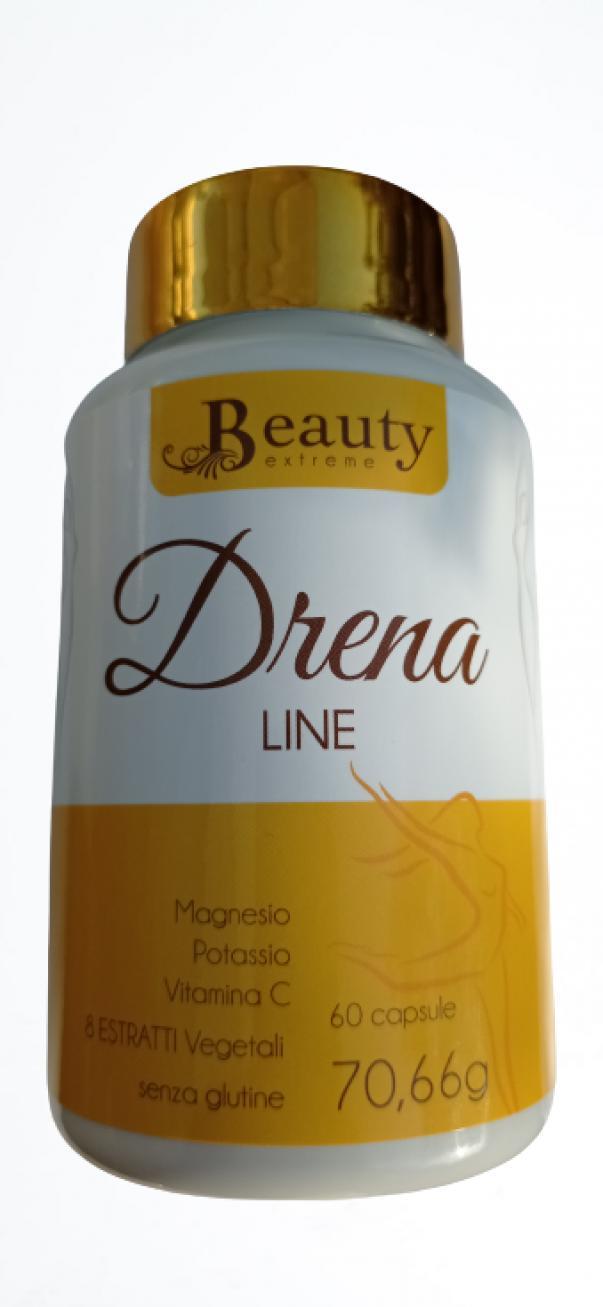 beauty extreme drena line con magnesio, potassio, vitamina c+ 8 estratti vegetali - 60 cpr