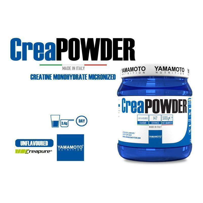 yamamoto nutrition creapowder - creatina pura 100% creapure gusto neutro 500g
