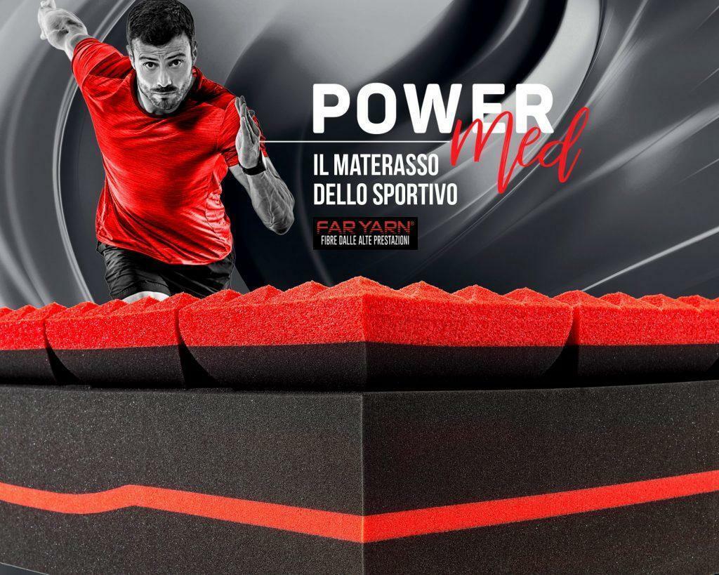 powermed powermed - lastra materasso carbon & memory ginseng - 160x190 + 2 cuscini omaggio powermed