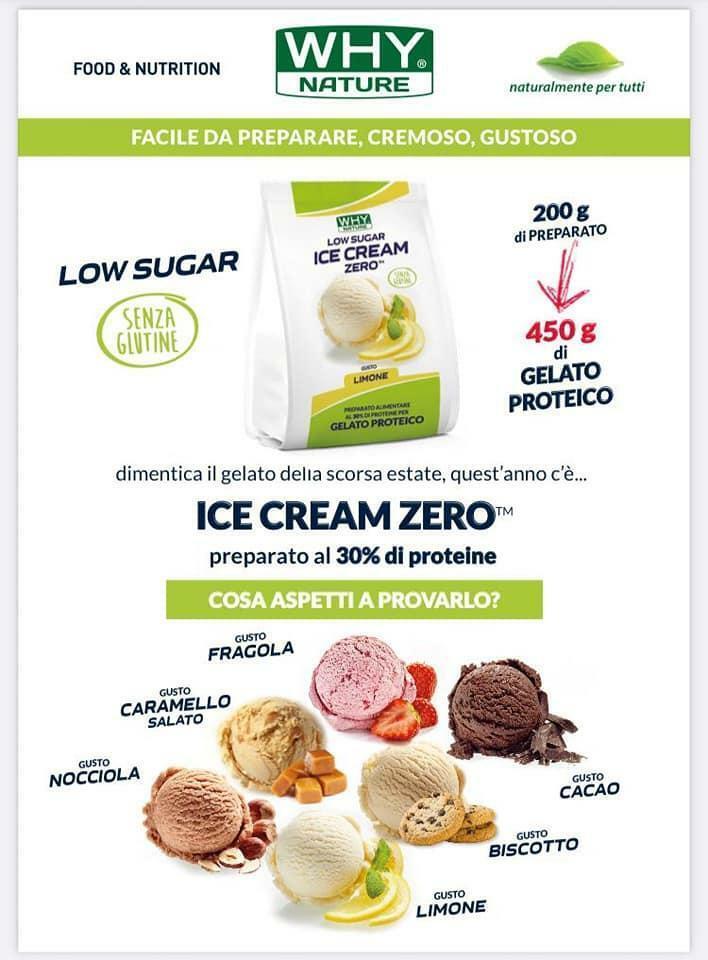 biovita group ice cream zero low sugar senza glutine gusto biscotto - 200g