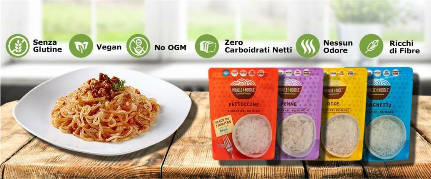 miracle noodle shirataki konjac - riso - 200g