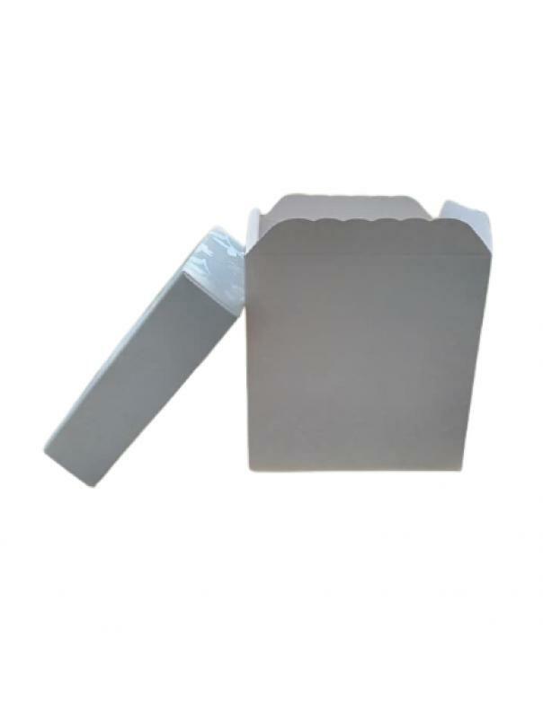 lover 30 pz scatole in cartone con coperchio bianco pieghevole fai da te 10x10 h10 cm bomboniera matrimonio battesimo comunione regalo muffin porta confetti - 30 pz