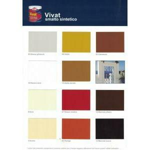 attiva vivat smalto sintetico brillante marrone scuro 12 0,750 lt