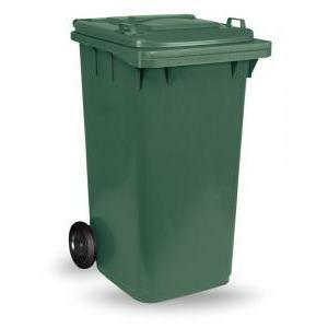 mac bidone quadro con ruote 240 litri verde