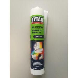 tytan professional silicone neutro per serramenti colore nero 300 ml