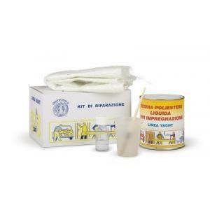 fraschetti kit di riparazione resina+lana di vetro + accessori
