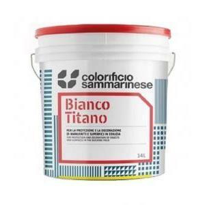 sammarinese sammarinese bianco titano 14 litri pittura lavabile opaca supercoprente