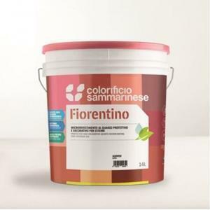 sammarinese fiorentino grana grossa bianco 14 lt  rivestimento al quarzo protettivo con antialga e ad effetto decorativo