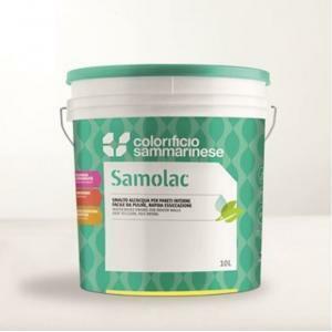 sammarinese sammarinese samolac lucido bianco 10 lt smalto acrilico all'acquadisinfettabile come richiesto dalla normativa haccp