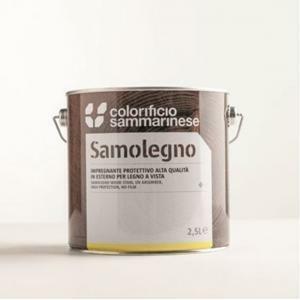 sammarinese sammarinese samolegno impregnante colore noce scuro 5 litri