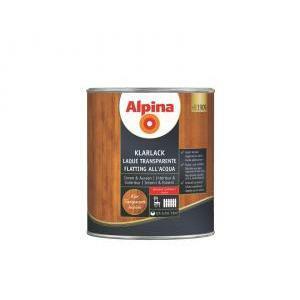 alpina alpina flatting all'acqua lucido 750 ml finitura per il legno