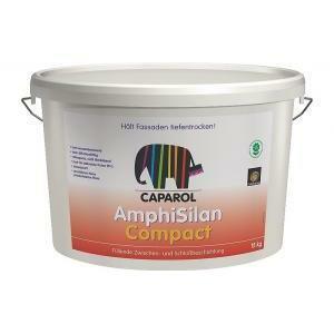 caparol caparol amphisilan compact 15 lt pittura riempitiva per facciate storiche, intonaci esterni e interni a calce e bastardi
