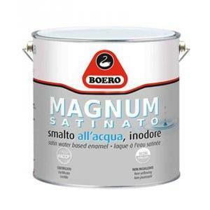 boero boero magnum satinato smalto all'acqua bianco 0,75 litri