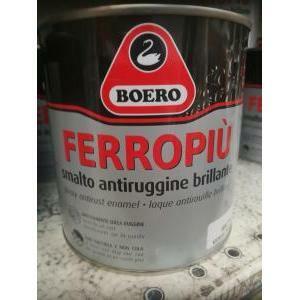 boero boero ferropiu testa moro 0,75 litri smalto per esterni ed interni