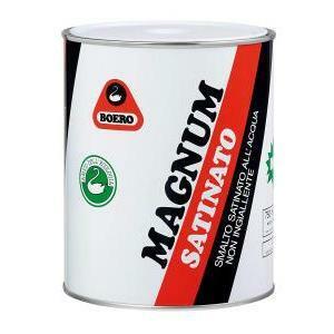 boero boero magnum per muri satinato bianco 10 lt smalto effetto satinato all'acqua