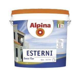 alpina alpina 10 litri pittura al quarzo per esterni ad elevata traspirabilita' e idrorepellenza