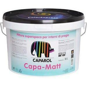 caparol caparol pittura lavabile traspirante super opaca capa-matt bianco/base 1 10 litri