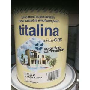 sammarinese sammarinese titalina rosso bologna 0,75 litri  idropittura superlavabile extra