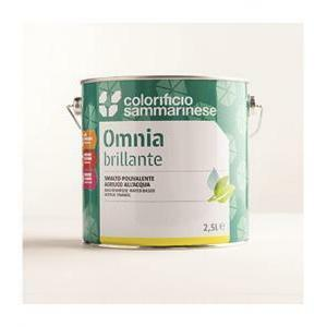 sammarinese sammarinese omnia lucido bianco 2,5 litri smalto all'acqua
