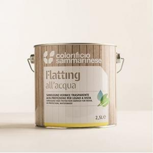sammarinese sammarinese sanolegno flatting lucido 0,75 litri finitura trasparente all'acqua