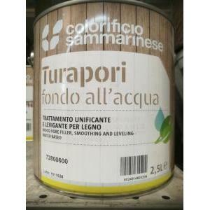 sammarinese sammarinese sanolegno fondo turapori carteggiabile 0,75 litri. trattamento unificante e levigante per legno