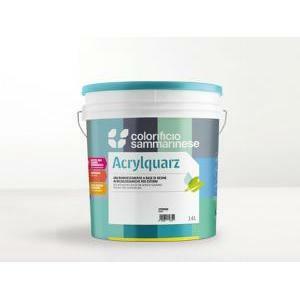 sammarinese sammarinese acrylquarz bianco 5 lt pittura a base di resine acrilsilossaniche molto resistente agli agenti atmosferici ed agli alcali