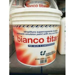 sammarinese sammarinese bianco titano 5 litri pittura lavabile opaca supercoprente