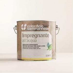 sammarinese sammarinese sanolegno impregnante per legno noce intenso 2,5 litri all'acqua