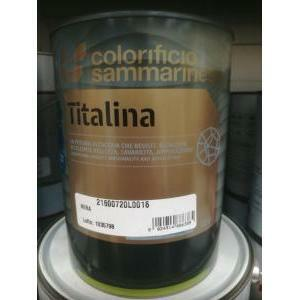 sammarinese sammarinese titalina nera 1 litro  idropittura superlavabile extra