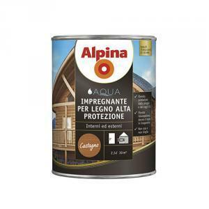 alpina alpina impregnante per legno  all'acqua alta protezione incolore 0,75 litri