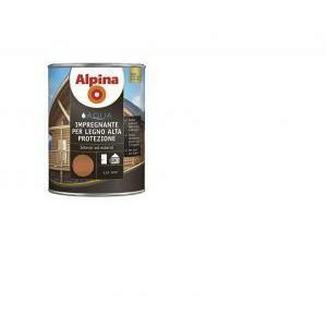 alpina alpina impregnante per legno all' acqua alta protezione incolore 2,5 lt
