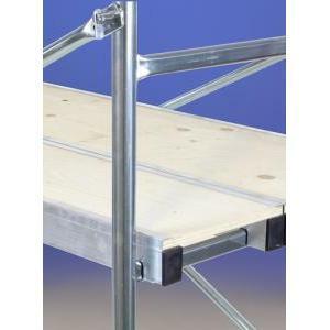 svelt svelt piano di lavoro trabattello focus in alluminio / abete
